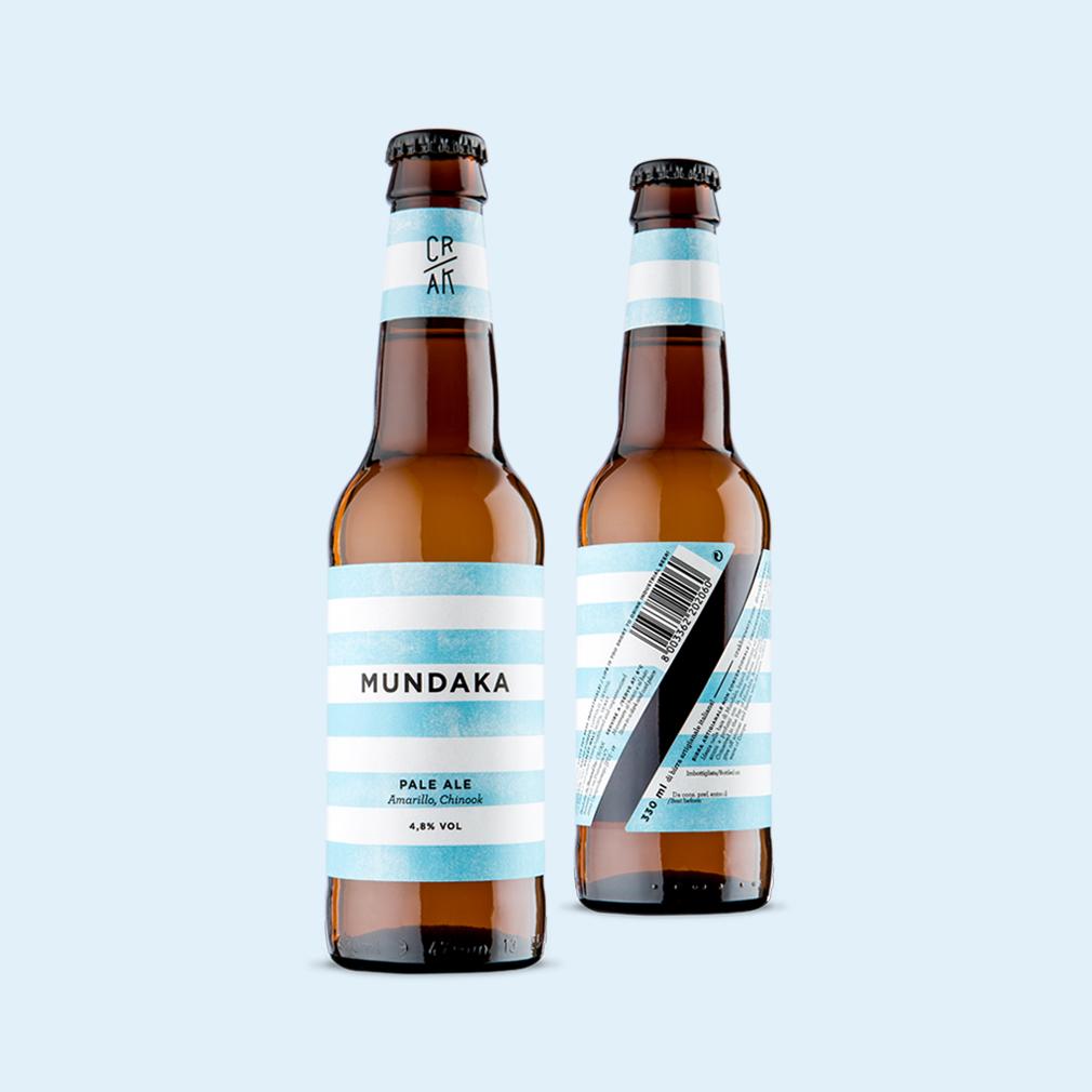 design-etichetta birra artigianale mundaka