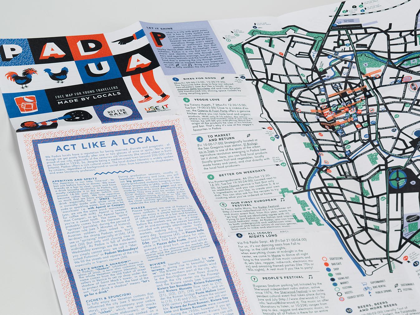 realizzazione mappa illustrata viaggi giovani padova