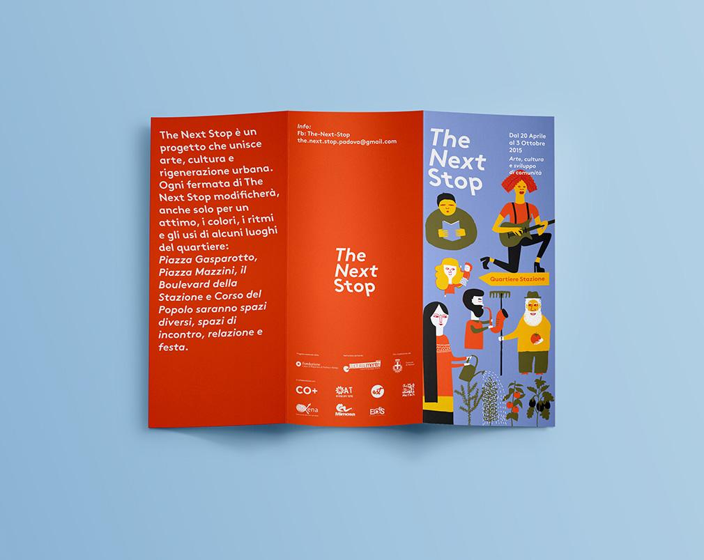 Realizzazione folder pieghevole-illustrato per eventi culturali padova