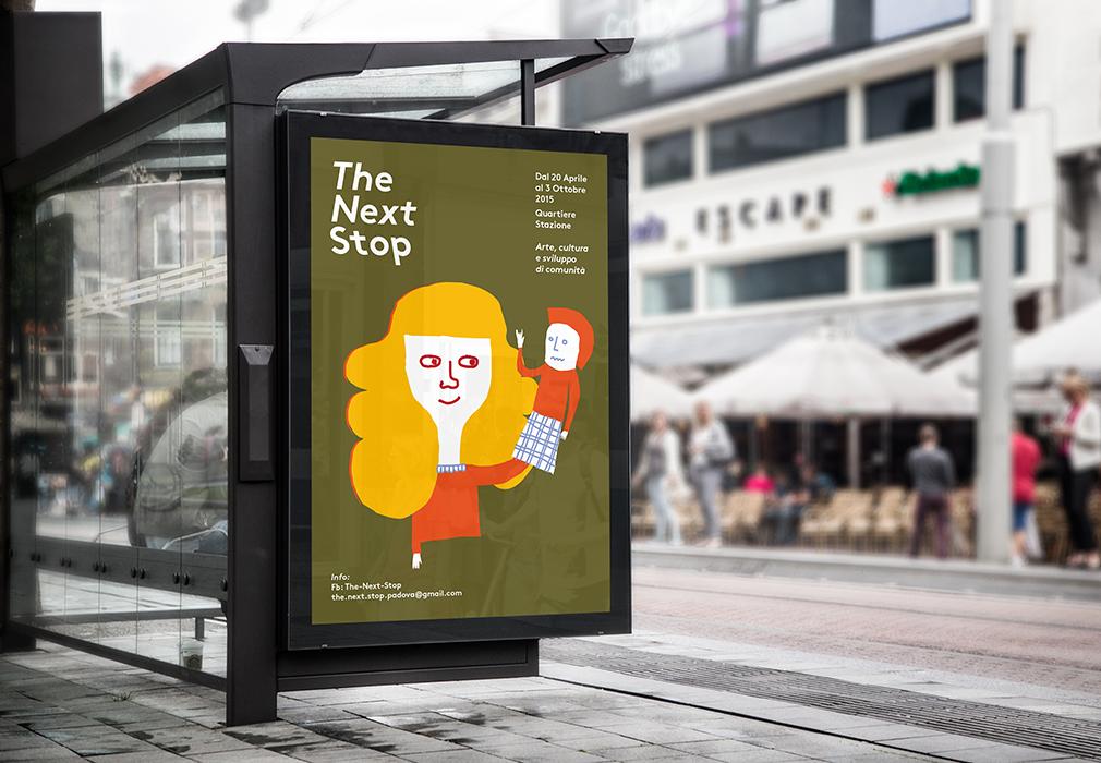 realizzazione logo illustrazioni-e-posters-illustrati-e-grafici-per-evento culturale next stop padova