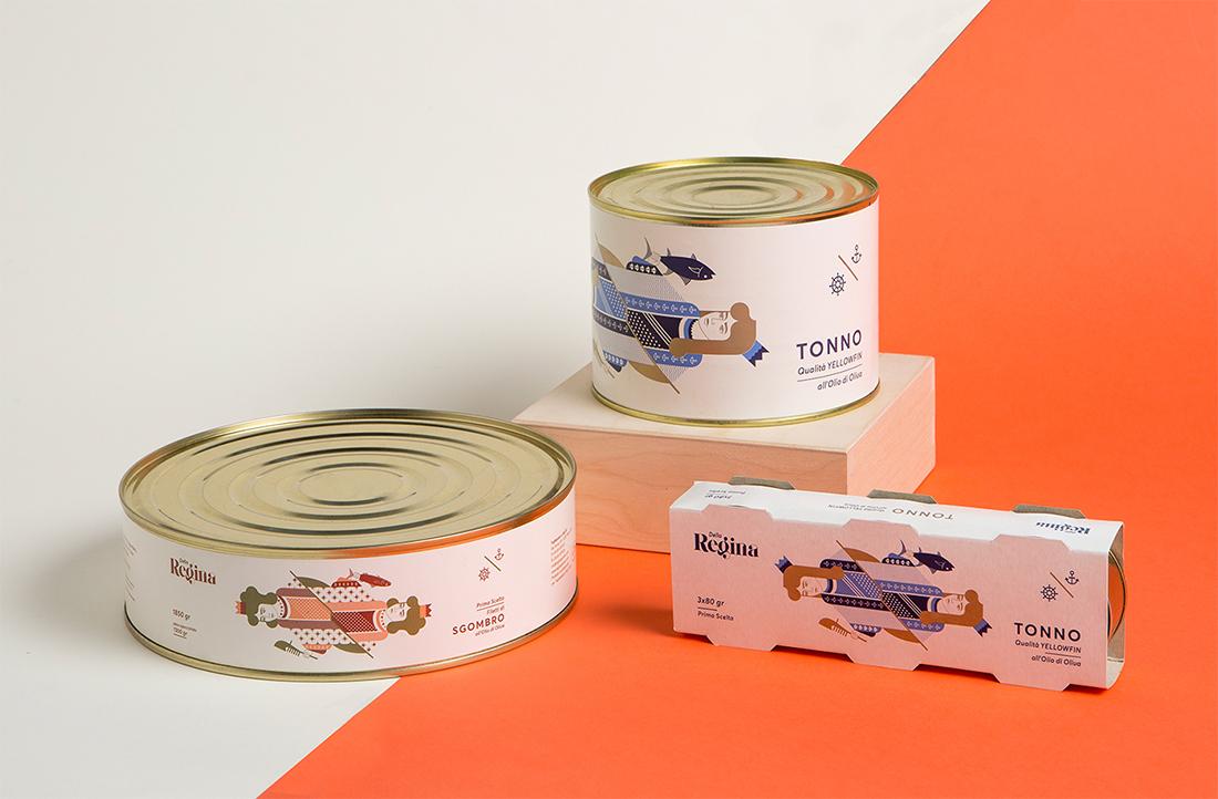 Progettazione packaging alimentare latte filetti tonno e sgombro