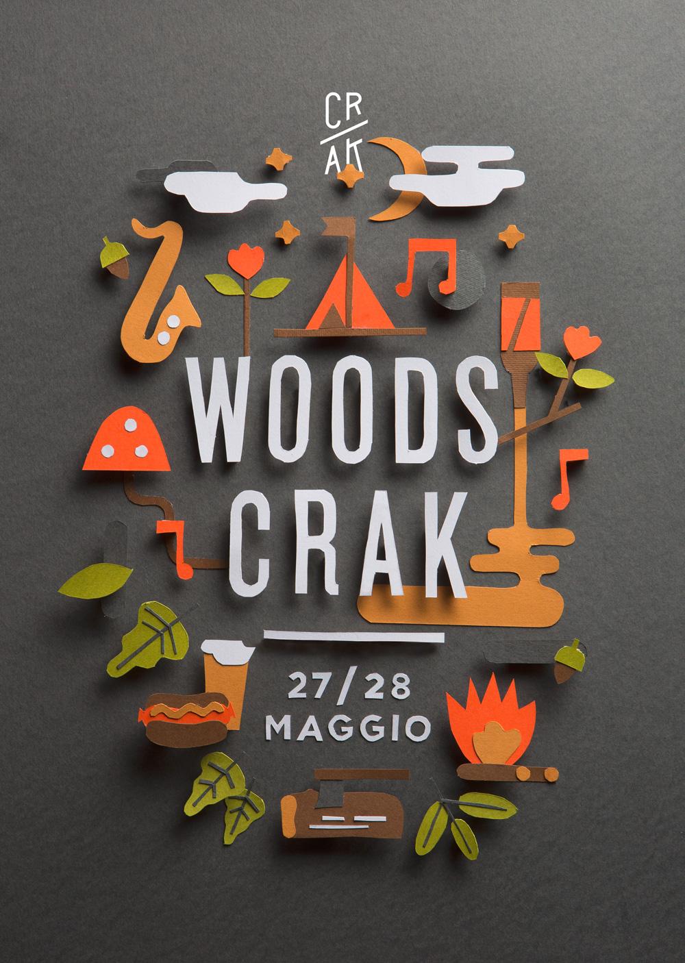 poster woodscrack beer festival