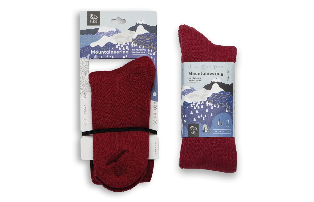 Packaging design calzini linea prodotto