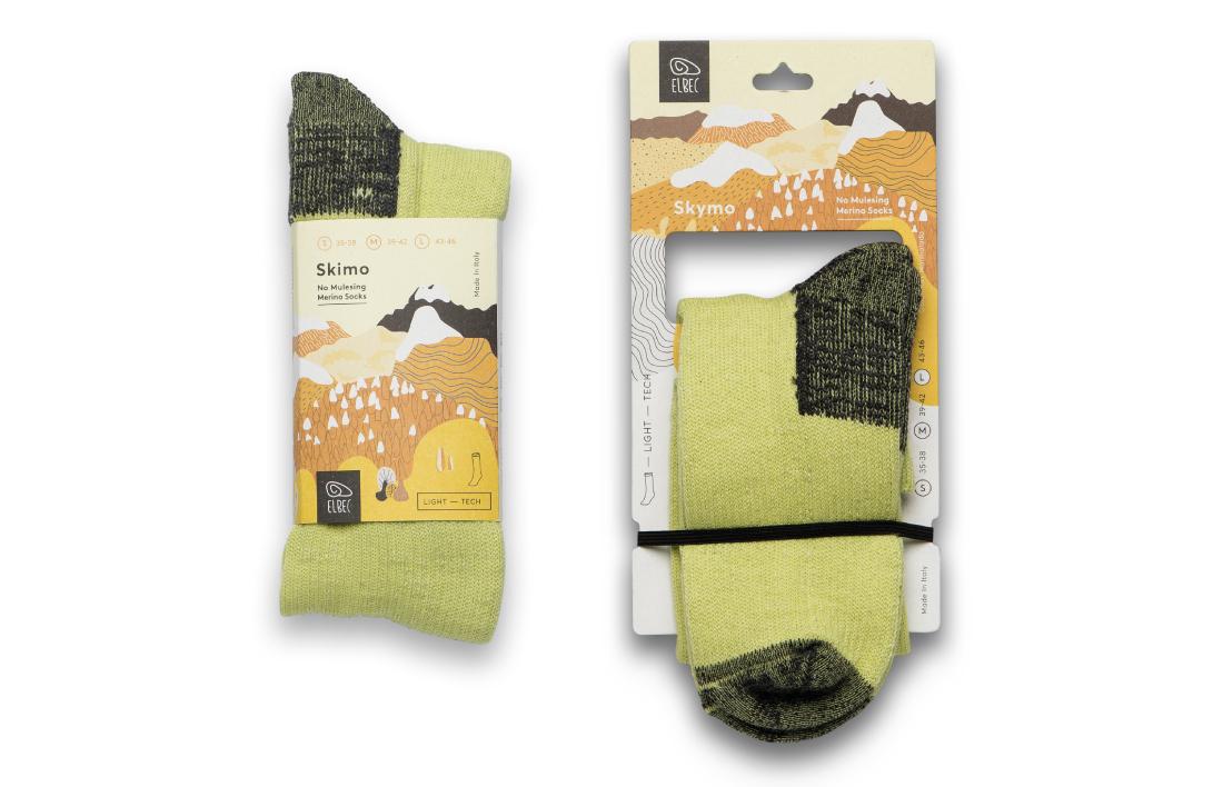 progettazione packaging calzini Skimo