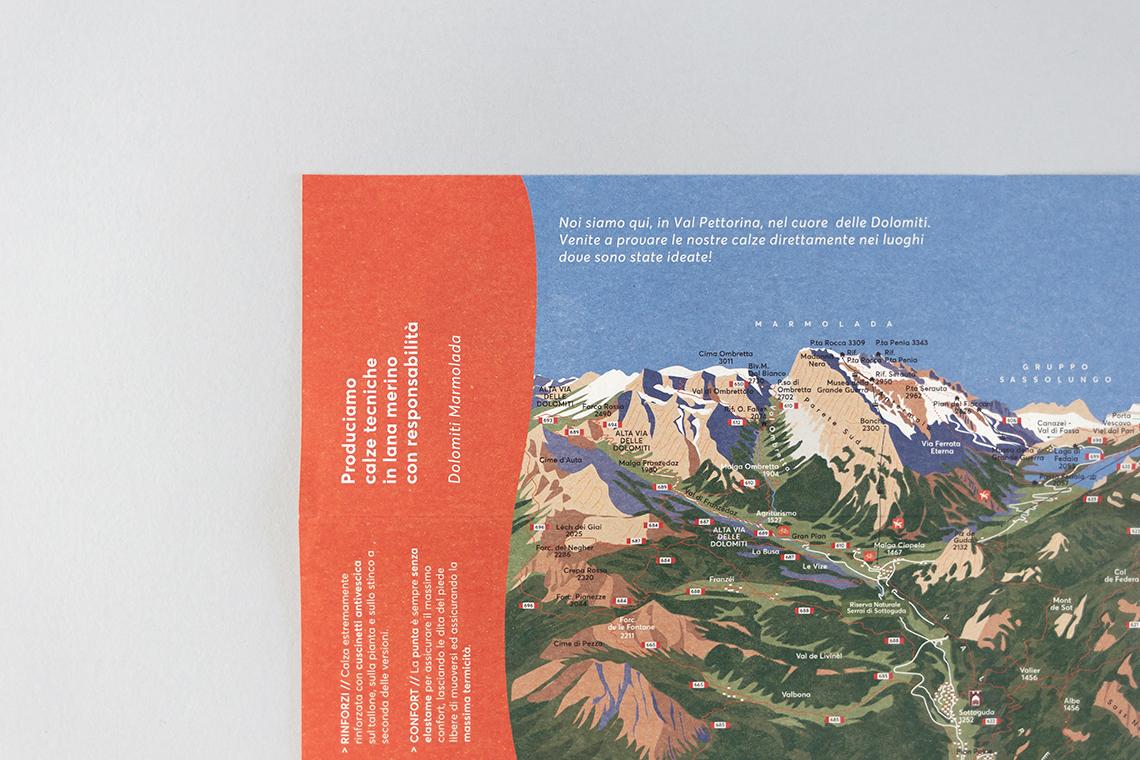 illustrazione brochure produzione elbec dolomiti